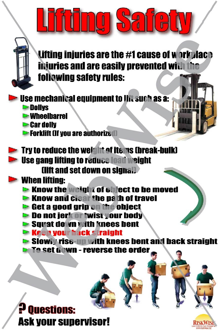 guide to safe lifting and handling