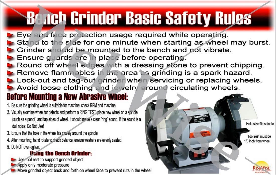 Bench Grinder Safety Poster