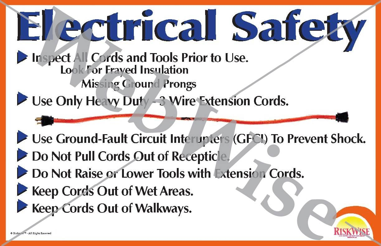 Electrical Cord Safety Poster Riskwise